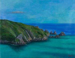 landscape painting coastline