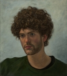 portrait oil painting young man head study
