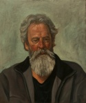 Portrait painting of bearded old man