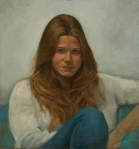 portrait oil painting beautiful young lady