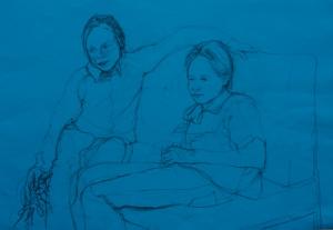 Portrait Drawings Arabella and Henrietta