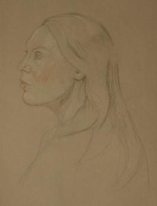 Portrait Drawings woman profile
