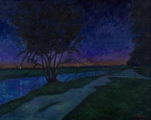 Landscape painting nocturne