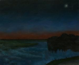 Landscape painting moon river