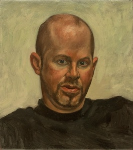 portrait oil painting bald man head study